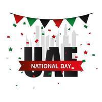 Förenade Arabemiraten nationella dag med banner vimpel vektor design