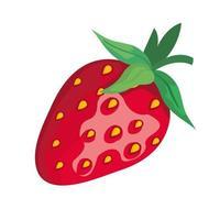Erdbeerfruchtikonen-Vektorentwurf vektor