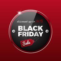Schwarzer Freitag-Verkauf auf rotem Hintergrund vektor