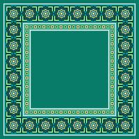 Marokkanischer islamischer Grenzvektor vektor