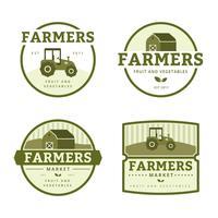 Bauernmarkt-Logo-Sammlung vektor
