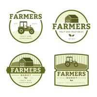 bönder marknadslogo samling