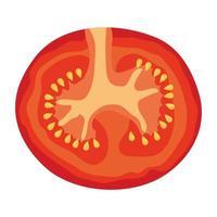 färsk tomat grönsak hälsosam ikon vektor