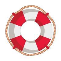 Marine Float Schiff isoliert Symbol vektor