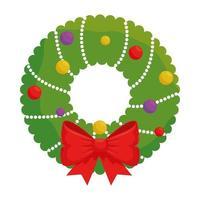 glad krona dekoration för god jul vektor