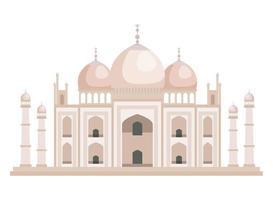 Taj Mahal indische Gebäudeikone vektor