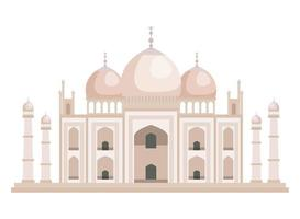 taj mahal indisk byggnad ikon vektor