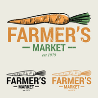 Karotte Farmers Market Logo vektor