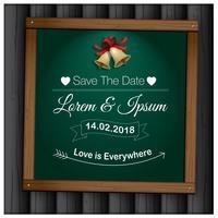 Bröllop spara datumvektorn