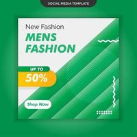Männer Mode Social Media Vorlage. Premium-Vektor vektor