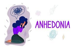 Anhedonia Hand gezeichnete Banner Vektor Vorlage