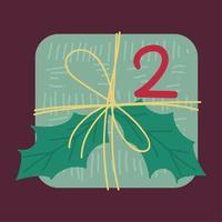 flache Vektorillustration der Draufsicht des Weihnachtsgeschenks vektor