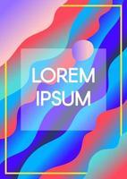 abstrakta flytande vågor med textram gränsar tonad bakgrund vektor