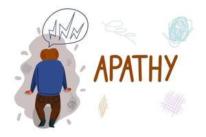 Apathie Hand gezeichnete Banner Vektor Vorlage