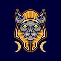 ägyptisches Spinxkatzenmaskottchen vektor