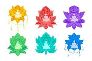 Yoga, Fitness flache Illustration vektor