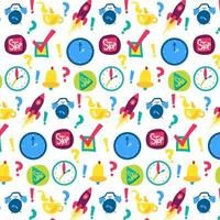 Zeitmanagement Vektor nahtloses Muster