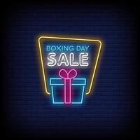 boxning dag försäljning neon skyltar stil text vektor