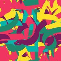 abstrakt gemaltes nahtloses Muster vektor