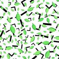 Frühling stilisierte Blätter nahtloses Vektormuster vektor