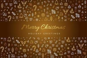 Frohe Weihnachten Grußkarte Vektor Vorlage