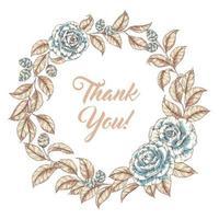 blommig gratulationskort vektor