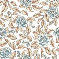 retro blommor sömlösa mönster vektor