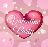 valentine party invitation vector layout