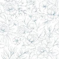 nahtloses Blumenmuster vektor