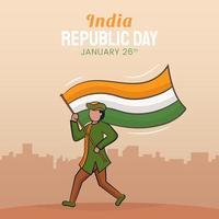 Hand gezeichnete Illustration des Tages der indischen Republik