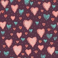 sömlösa hjärtan mönster