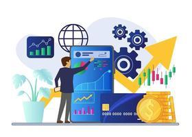 Finanzanalyse Geschäftsmann Vektor