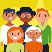 Gruppe interracialer Menschen, Inklusionskonzept vektor