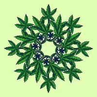 medizinische Cannabisblatt-Mandala-Illustration