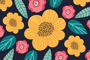 mönster av blommor trädgård bakgrund