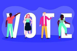 Wahltag Demokratie mit Wähler- und Stimmbriefen vektor