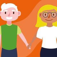 süßes junges Paar vektor