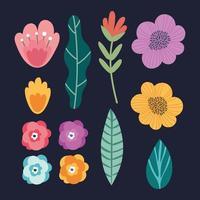bunt av blommor trädgård bakgrund