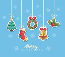 Frohe Weihnachten Feier Banner vektor