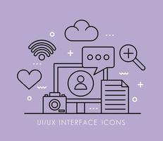 Symbole für den Desktop- und Schnittstellenlinienstil