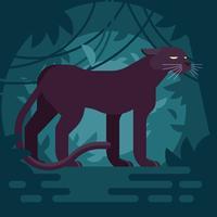 Schwarze Panther-Illustration vektor