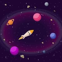Kosmos-Illustrations-Vektor