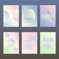 Abstrakt Holografisk Geometrisk Layout Broschyr Mall Set