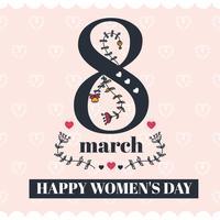 Snygg Glad Kvinnodagsvektor