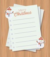 god julkort med brevark vektor