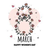 Hand gezeichnete Frauen Tag Vektor