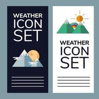 Wetterbannerset vektor