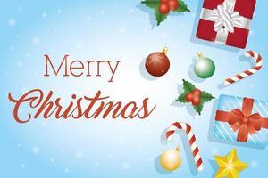 firande för god julkort vektor