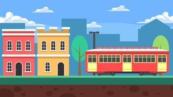 New Orleans Streetcar-Landschaftshintergrund-Vektor