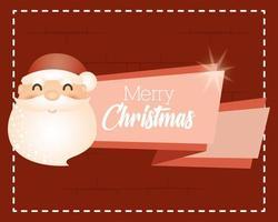 god julkort med jultomten vektor